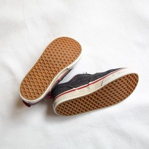 Vans Shoes - Vans Gray & Red Skater Shoes Toddler Size 8
